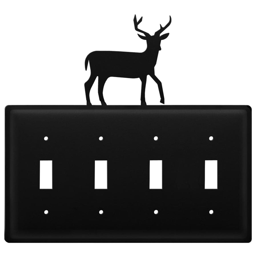 Wrought Iron Deer Quad Switch Cover light switch covers lightswitch covers outlet cover switch