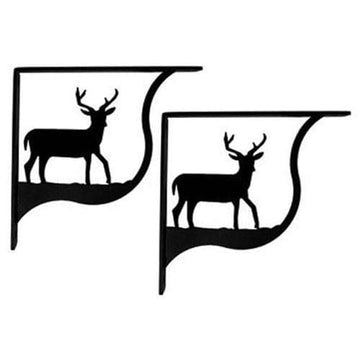 Wrought Iron Deer Shelf Brackets Corner Accent -3 Sizes Available featured floating shelves floating