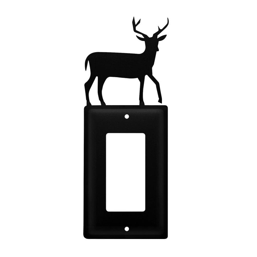 Wrought Iron Deer Single GFCI Cover light switch covers lightswitch covers outlet cover switch