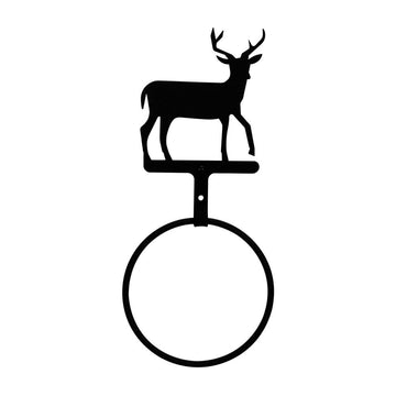 Wrought Iron Deer Towel Ring Towel Rack bathroom towel rails black wrought iron towel rack towel
