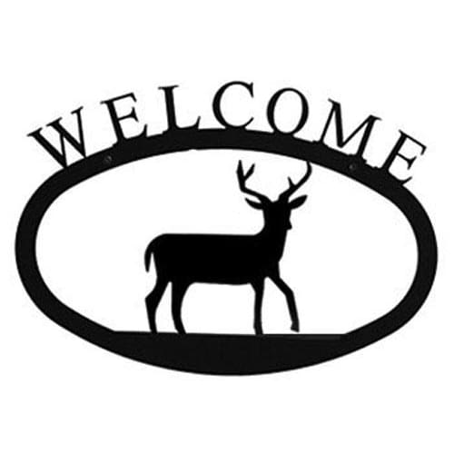 Wrought Iron Deer Welcome Home Sign Large door signs outdoor signs welcome home sign welcome home
