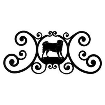 Wrought Iron Dog Over Door Plaque door plaque house signs metal name plaques metal plaques name