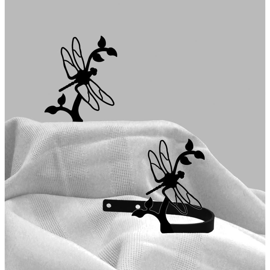 Wrought Iron Dragonfly Curtain Tie Back Set curtain accessories curtain holdbacks curtain tie backs
