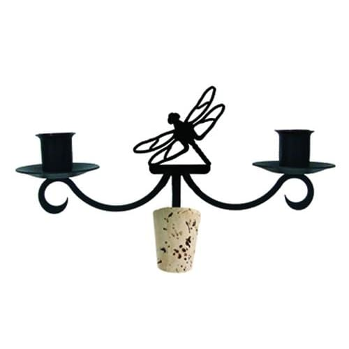 Wrought Iron Dragonfly Taper Candle Bottle Top Candelabra candelabra candelabrum candle holder