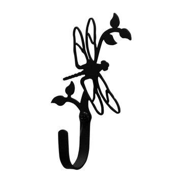 Wrought Iron Dragonfly Wall Hook Small coat hooks door hooks dragonfly hook hook wall hook