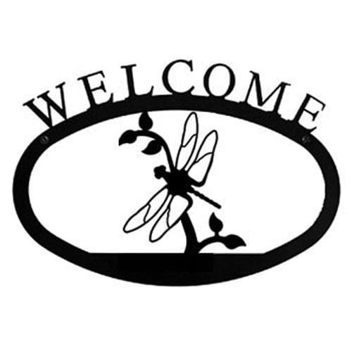 Wrought Iron Dragonfly Welcome Home Sign Large door signs outdoor signs welcome home sign welcome