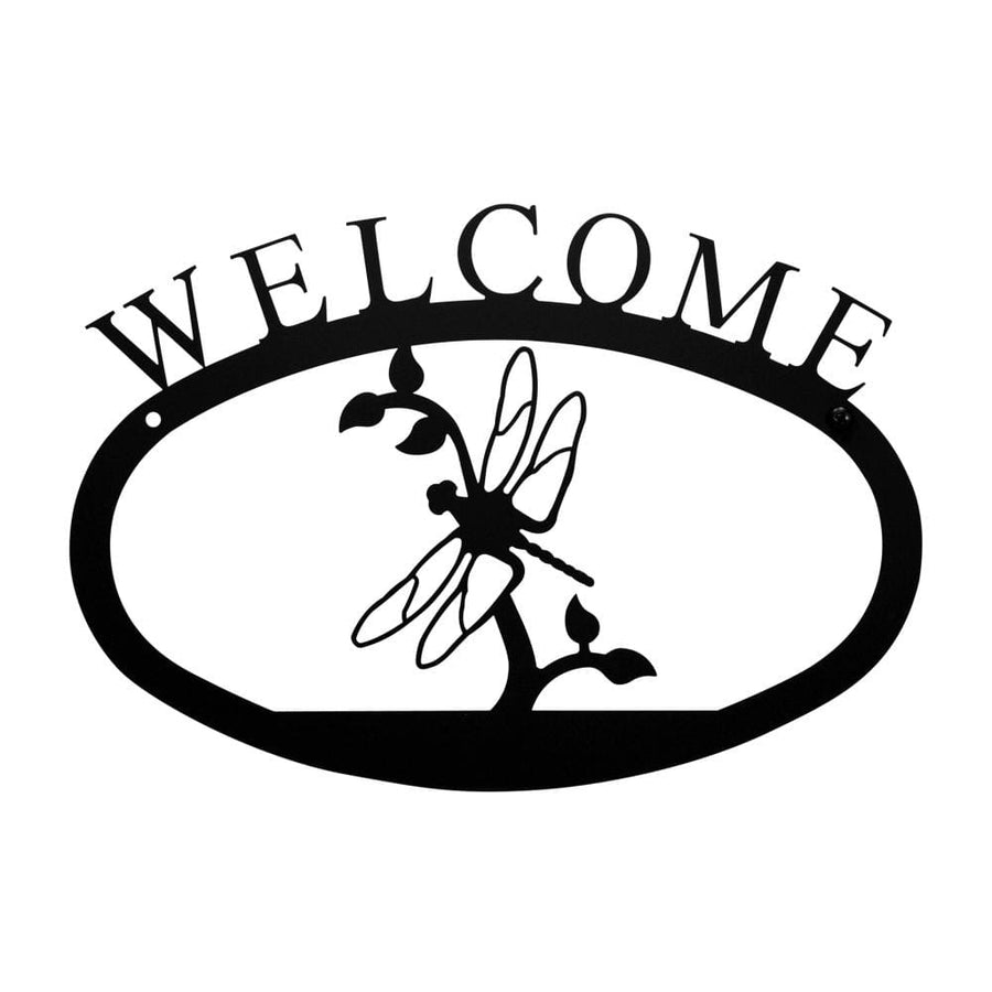 Wrought Iron Dragonfly Welcome Home Sign Small door signs outdoor signs welcome home sign welcome