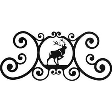 Wrought Iron Elk Over Door Plaque door plaque house signs metal name plaques metal plaques name