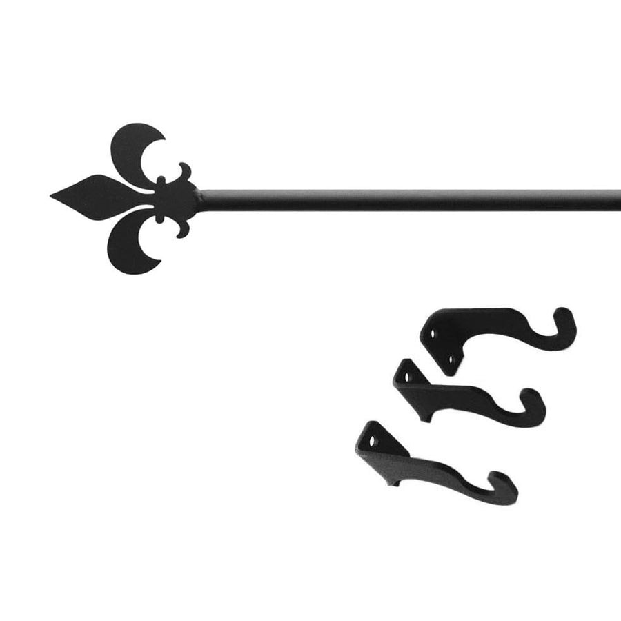 Wrought Iron Fleur De Lis Curtain Rod curtain poles curtain rails curtain rod dragonfly decor