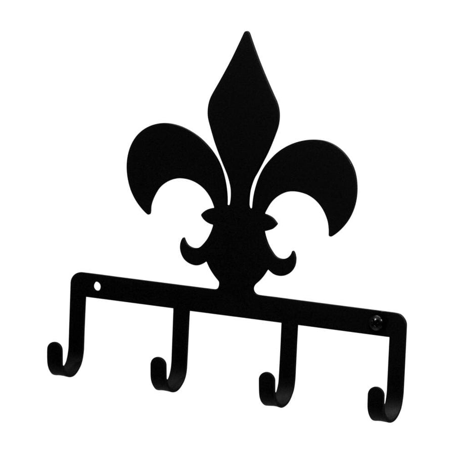 Wrought Iron Fleur-de-lis Key Holder Key Hooks key hanger key hooks Key Organizers key rack