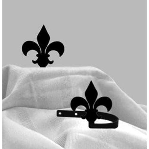 Wrought Iron Fleur-de-lis Tie Back Set curtain accessories curtain holdbacks curtain tie backs hold