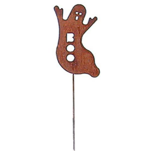 Wrought Iron Ghost Rusted Garden Stake 35 Inches Autumn Decorations garden art garden decor garden