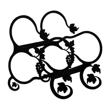 Wrought Iron Grapevine leaf Wine Rack 3 bottle wine bottle and glass holder wine bottle holder wine
