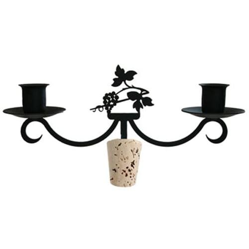Wrought Iron Grapevine Wine Bottle Stopper Candelabra candelabra candelabrum candle holder romantic