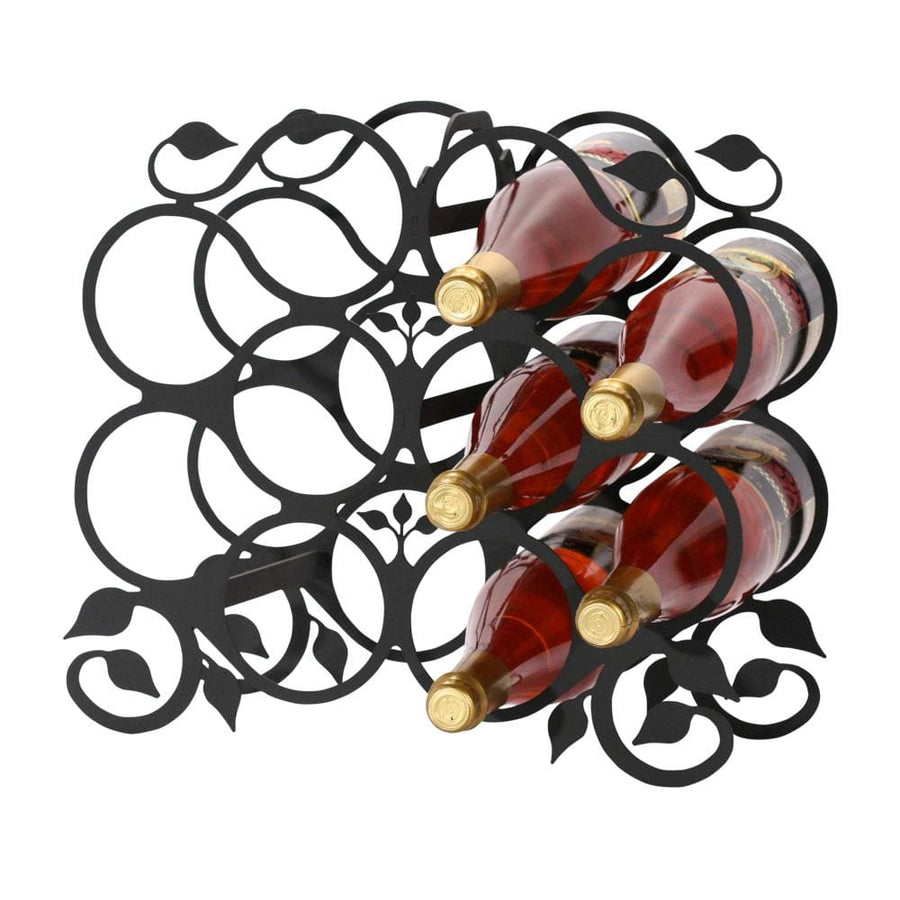 Wrought Iron Grapevine Wine Rack 10 bottle wine bottle and glass holder wine bottle holder wine