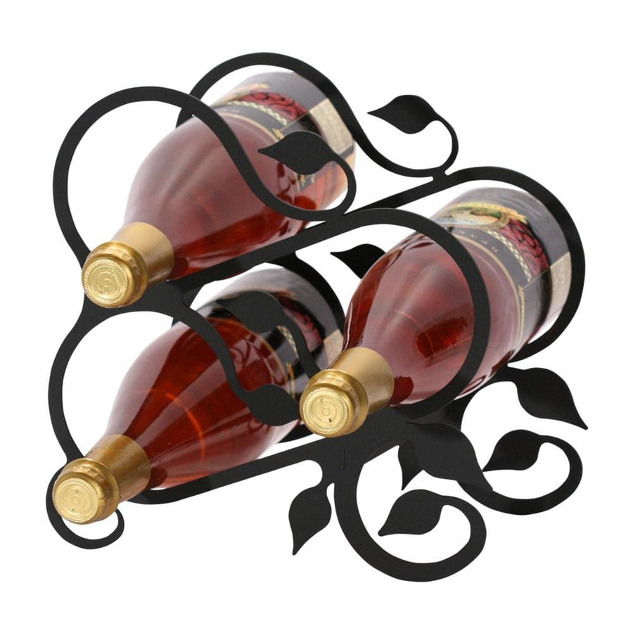 Wrought Iron Grapevine Wine Rack 3 bottle wine bottle and glass holder wine bottle holder wine glass