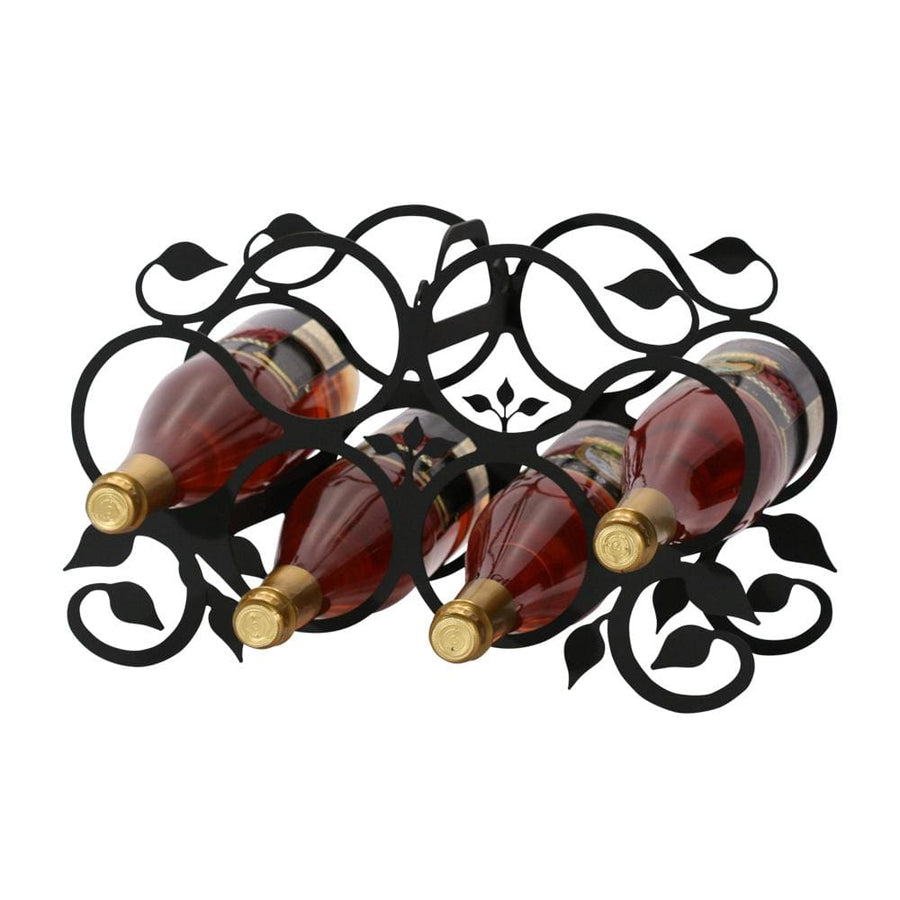 Wrought Iron Grapevine Wine Rack 6 bottle wine bottle and glass holder wine bottle holder wine glass