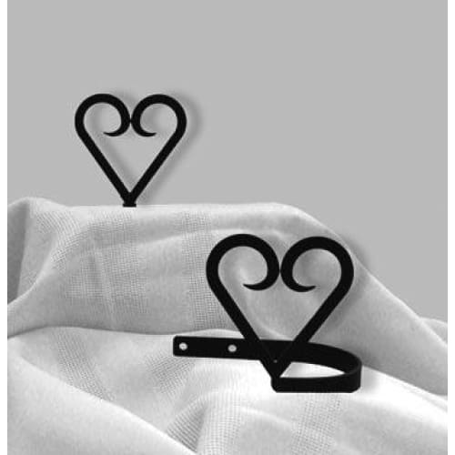 Wrought Iron Heart Curtain Tie Back Set curtain accessories curtain holdbacks curtain tie backs hold