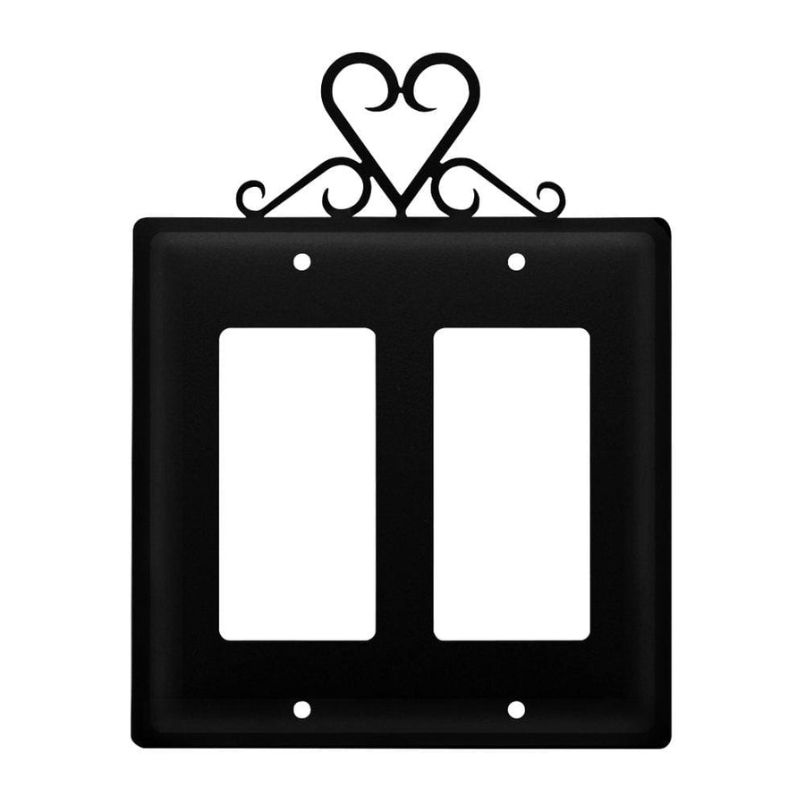 Wrought Iron Heart Double GFCI Cover light switch covers lightswitch covers outlet cover switch