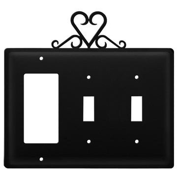 Wrought Iron Heart GFCI Double Switch Cover light switch covers lightswitch covers outlet cover
