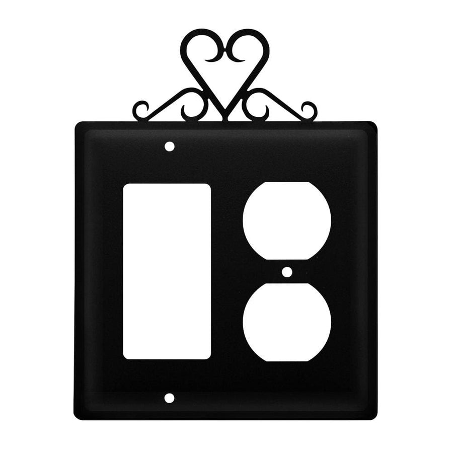 Wrought Iron Heart GFCI & Outlet new outlet cover Valentines Day Gift Ideas Wrought Iron Heart GFCI