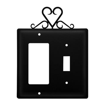 Wrought Iron Heart GFCI Switch Cover light switch covers lightswitch covers outlet cover switch