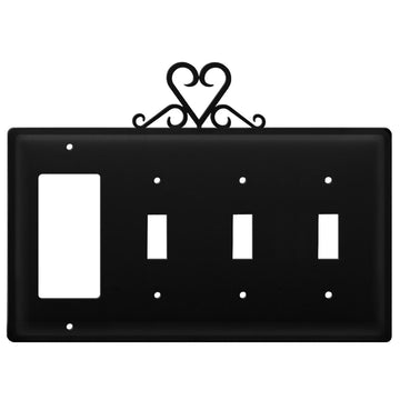 Wrought Iron Heart GFCI Triple Switch Cover light switch covers lightswitch covers outlet cover