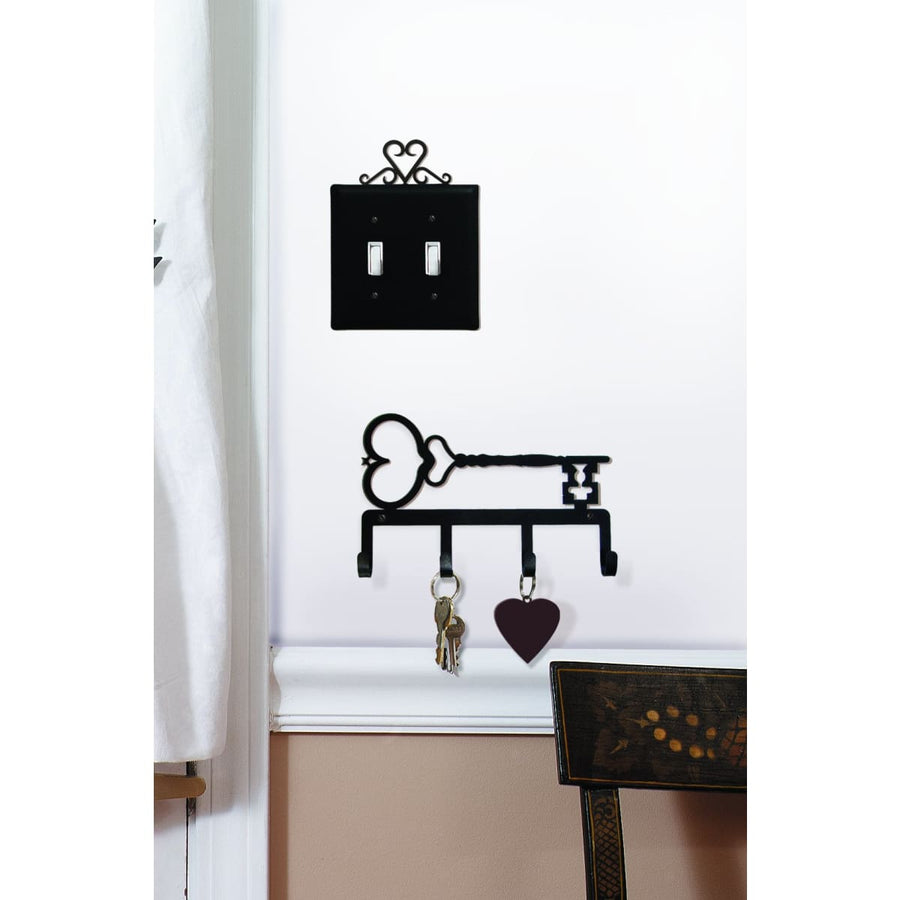 Wrought Iron Heart-Key Key Holder Key Hooks featured key hanger key hooks Key Organizers key rack