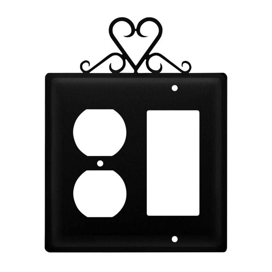 Wrought Iron Heart Outlet Cover & GFCI light switch covers lightswitch covers outlet cover switch