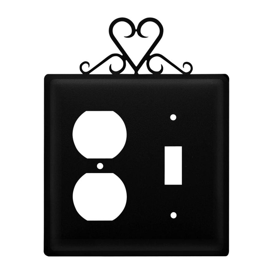 Wrought Iron Heart Outlet & Switch Cover light switch covers lightswitch covers outlet cover switch