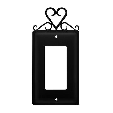 Wrought Iron Heart Single GFCI Cover light switch covers lightswitch covers outlet cover switch