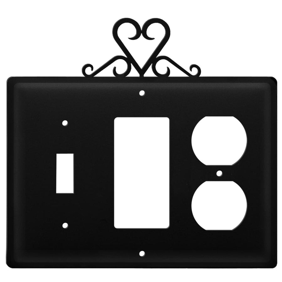 Wrought Iron Heart Switch GFCI Outlet Cover light switch covers lightswitch covers outlet cover