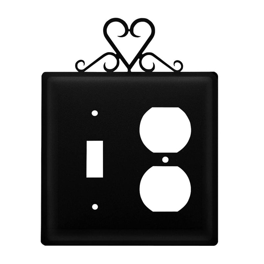 Wrought Iron Heart Switch & Outlet Cover new outlet cover Valentines Day Gift Ideas Wrought Iron