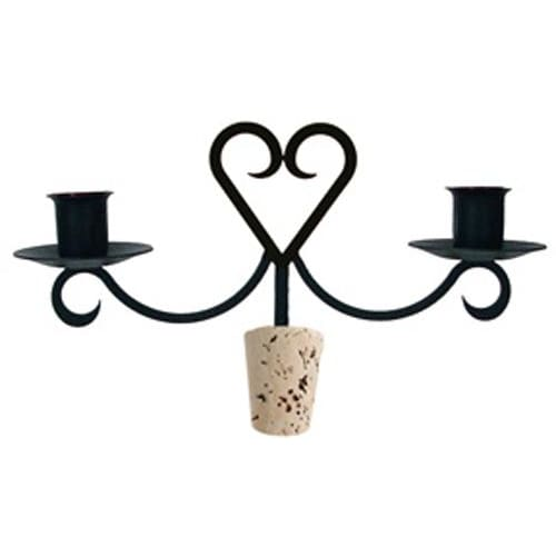 Wrought Iron Heart Wine Bottle Stopper Candelabra candelabra candelabrum candle holder romantic