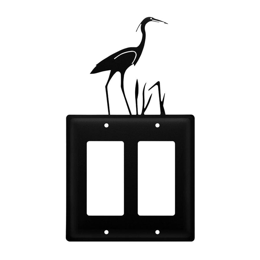 Wrought Iron Heron Double GFCI Cover light switch covers lightswitch covers outlet cover switch
