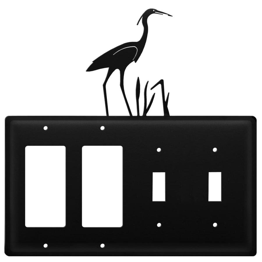 Wrought Iron Heron Double GFCI Double Switch Cover light switch covers lightswitch covers outlet
