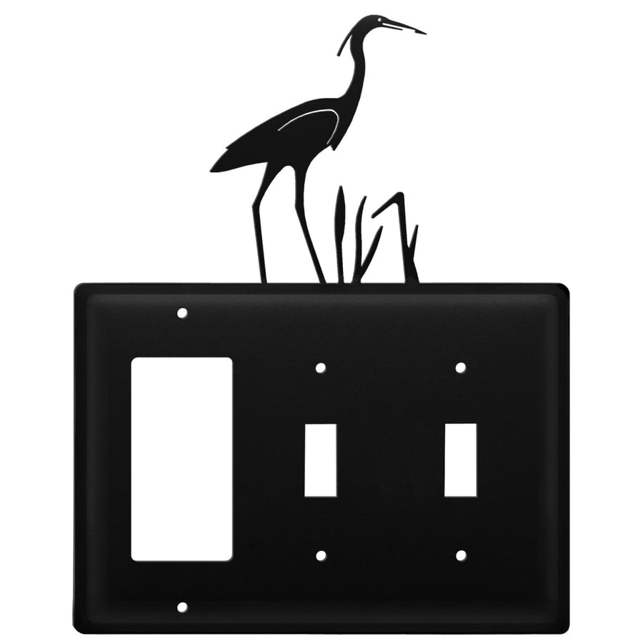 Wrought Iron Heron GFCI Double Switch Cover light switch covers lightswitch covers outlet cover