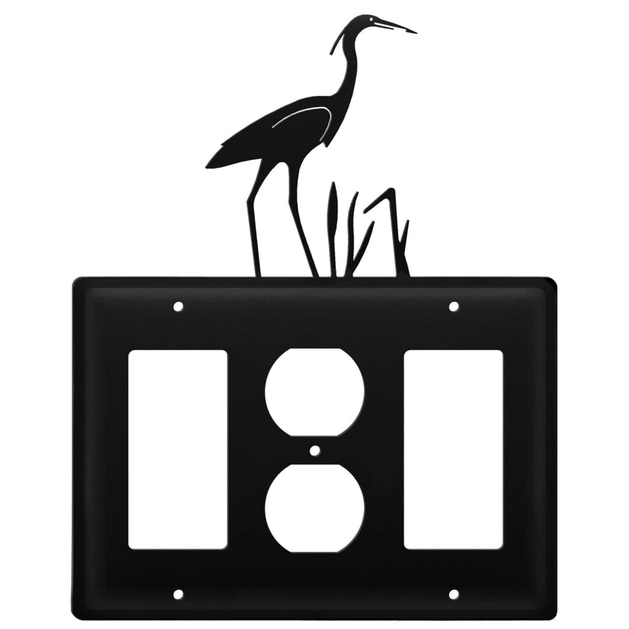 Wrought Iron Heron GFCI Outlet GFCI Cover light switch covers lightswitch covers outlet cover switch