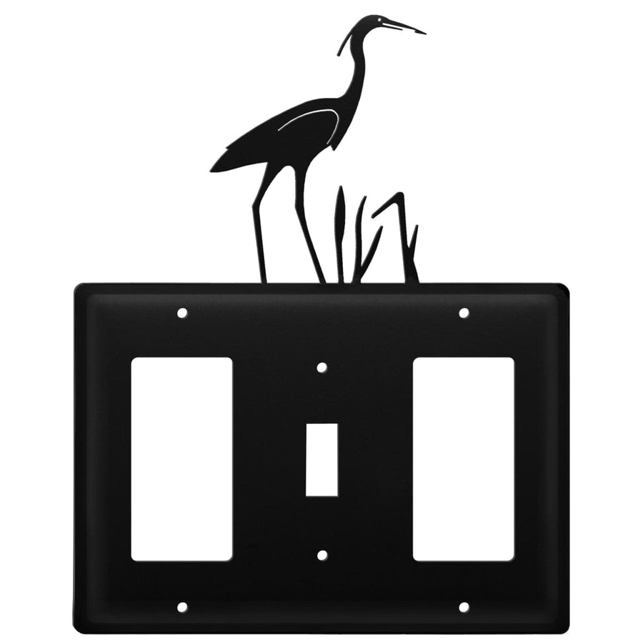Wrought Iron Heron GFCI Switch GFCI Cover light switch covers lightswitch covers outlet cover switch