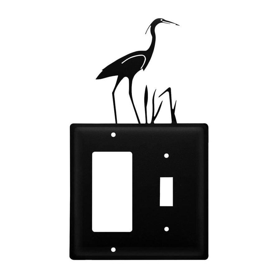 Wrought Iron Heron GFCI Switch Cover light switch covers lightswitch covers outlet cover switch