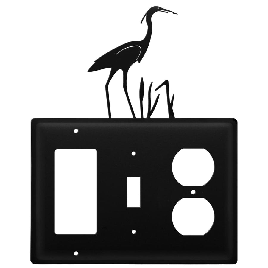 Wrought Iron Heron GFCI Switch Outlet Cover light switch covers lightswitch covers outlet cover