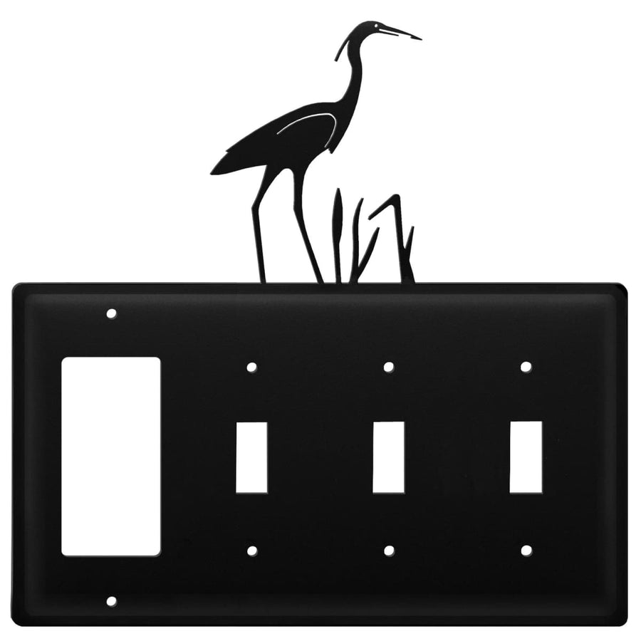 Wrought Iron Heron GFCI Triple Switch Cover light switch covers lightswitch covers outlet cover