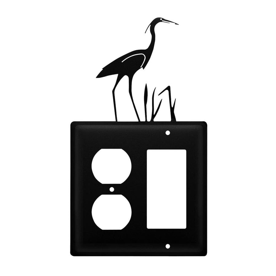 Wrought Iron Heron Outlet Cover & GFCI light switch covers lightswitch covers outlet cover switch