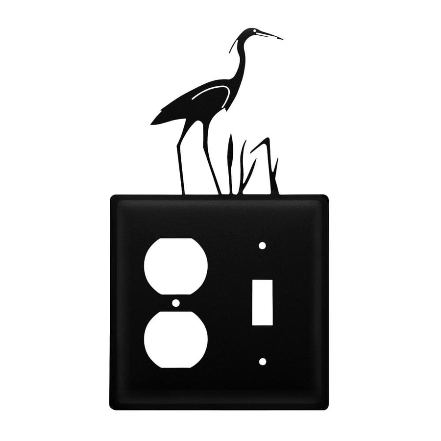 Wrought Iron Heron Outlet & Switch Cover light switch covers lightswitch covers outlet cover switch