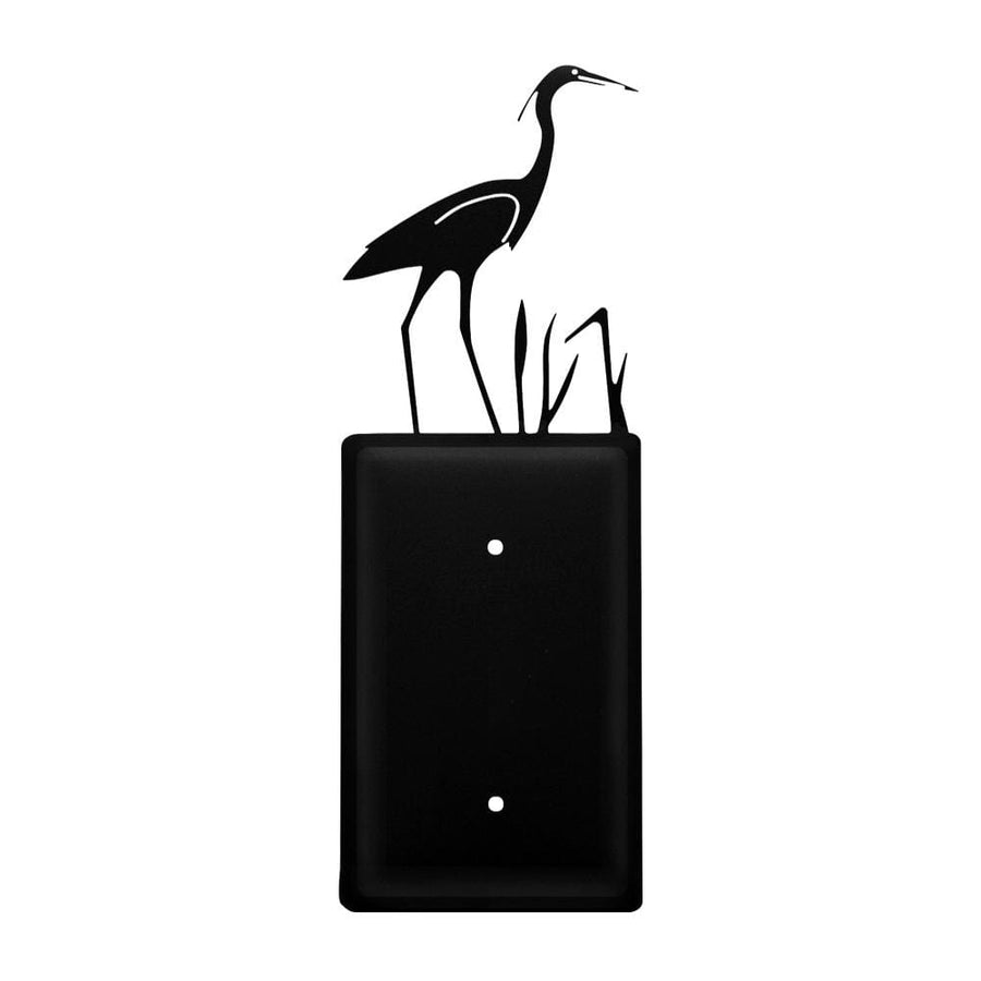 Wrought Iron Heron Single Blank Cover light switch covers lightswitch covers outlet cover switch