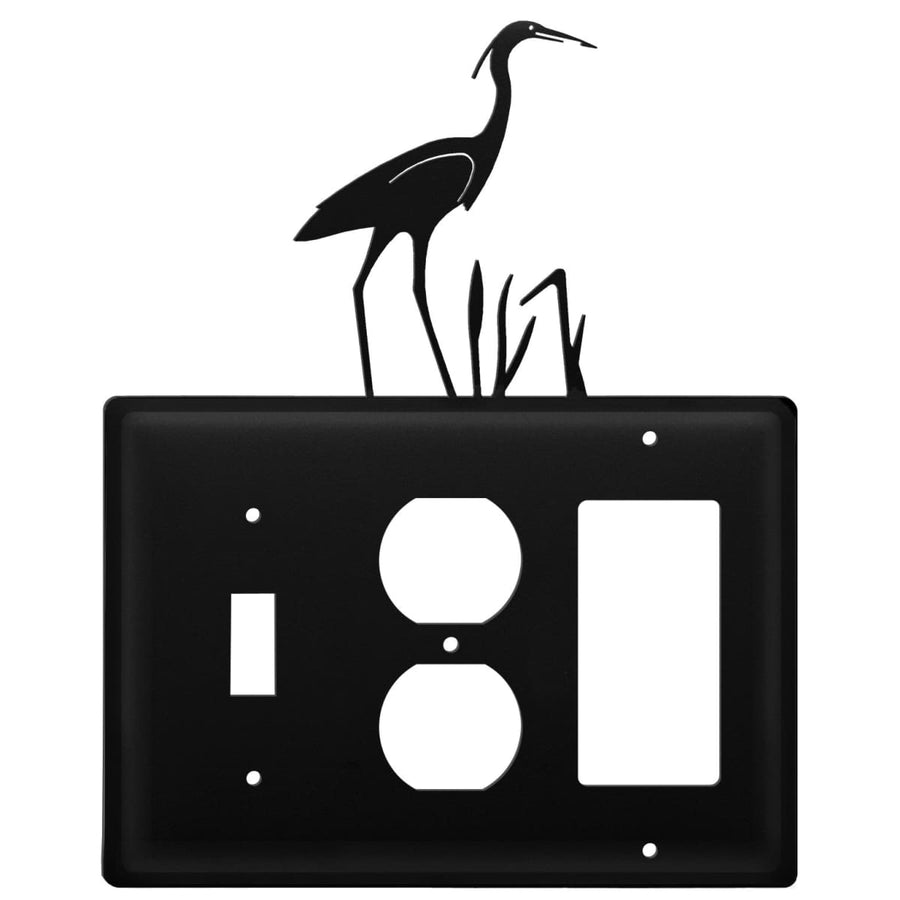 Wrought Iron Heron Switch Outlet GFCI Cover light switch covers lightswitch covers outlet cover
