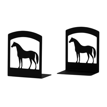 Wrought Iron Horse Book Ends Set book end bookends childrens bookends horse bookends