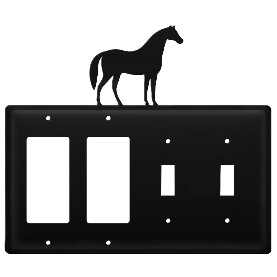 Wrought Iron Horse Double GFCI Double Switch Cover light switch covers lightswitch covers outlet