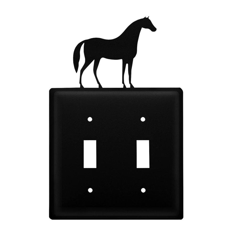 Wrought Iron Horse Double Switch Cover light switch covers lightswitch covers outlet cover switch
