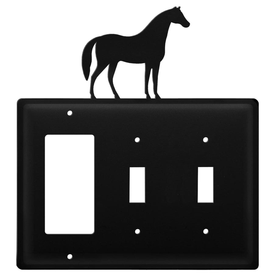 Wrought Iron Horse GFCI Double Switch Cover light switch covers lightswitch covers outlet cover